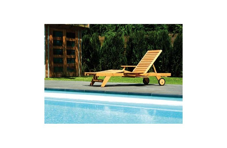 Traditional Teak Leah lounger - afbeelding 2